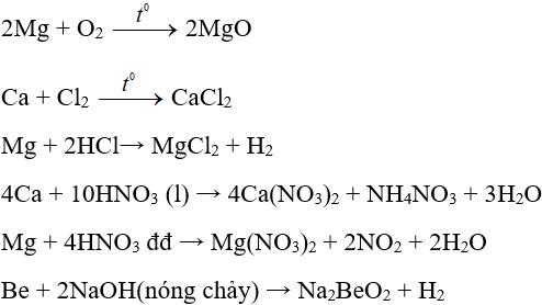 Lý thuyết: Luyện tập tính chất của kim loại kiềm, kim loại kiềm thổ