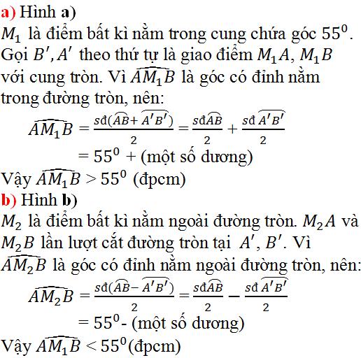 Giải bài tập SGK Toán 9 bài 6: Cung chứa góc