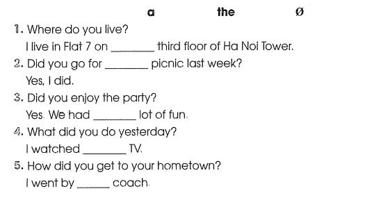 Bài tập cuối tuần môn Tiếng Anh lớp 5 Tuần 5