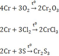 Lý thuyết Crom: Tính chất hóa học, Tính chất vật lí, Điều chế, Ứng dụng