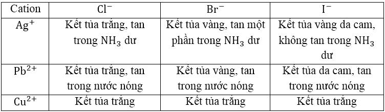 Lý thuyết: Nhận biết một số cation trong dung dịch