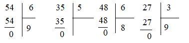 Chia số có hai chữ số cho số có một chữ số