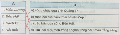 Giải bài 13C: Cửa Tùng, sông Bến Hải ở miền nào?