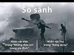 So sánh hình ảnh nhân vật Tnú và nhân vật Việt