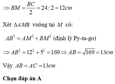 Trắc nghiệm: Tính chất ba đường cao của tam giác