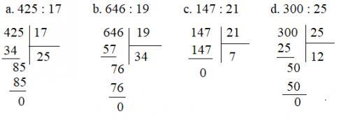 Chia cho số có hai chữ số
