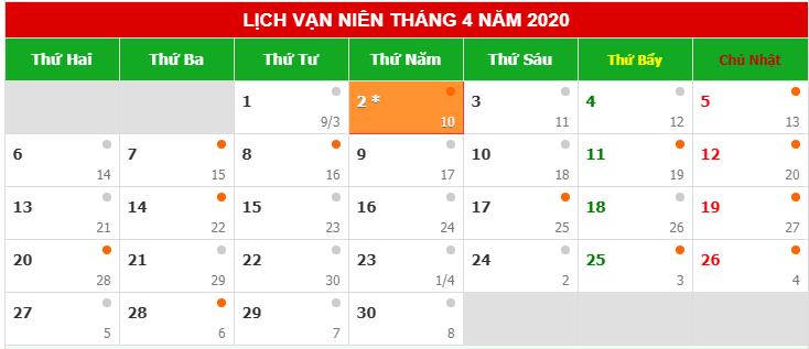 Lịch nghỉ giỗ tổ Hùng Vương 2020