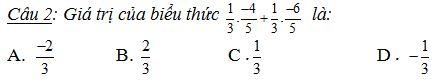 Đề kiểm tra 1 tiết môn Đại số 7 chương 1